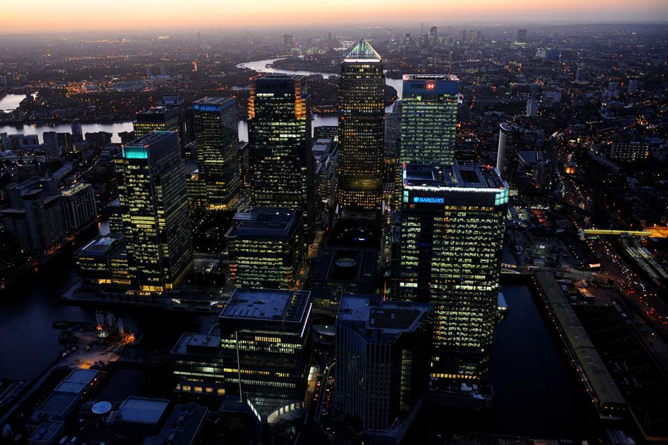 English Rose Canary Wharf Aerial View